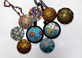 Simple Silk Screening: Making Colorful Polymer Clay Pendants with Syndee Holt