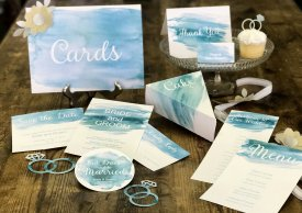 Watercolor Invitation Stationery Suite