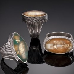 Learn to make an alluring Resin Cabochon Metal Clay Ring