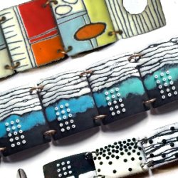Enamelled bracelet with Angela Gerhard