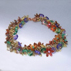 Colours in Bloom Enameled Bracelet with Kieu Pham Gray at CraftCast.com