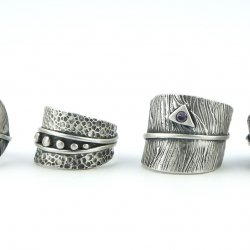 Creating Leaf-Like Metal Clay Rings with Lisel Crowley at CraftCast.com