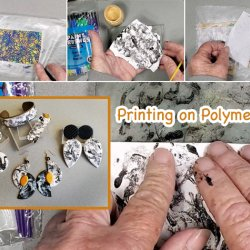 Gelli Plate Printing on Polymer Clay with syndee holt