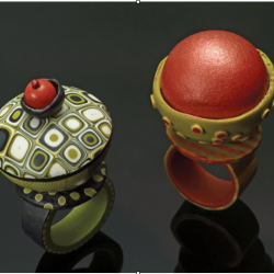 polymer clay rings with loretta lam