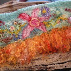 Fanciful Felted Cuffs: Learn to Machine Needle Felt, Free Motion Stitch and Wet Felt with Margo Duke