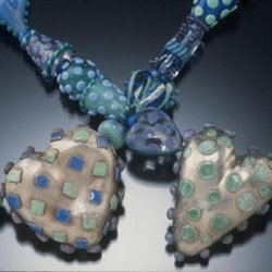 Enamel and Metal Clay Bead Mash-Up