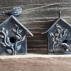 Sweet Silver  Metal Clay Birdhouse Pendants with Sulie Girardi at CraftCast.com