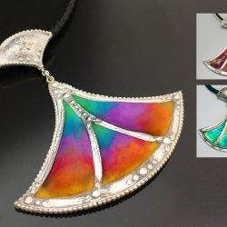 Metal Clay and Verre Églomisé: Back Painting your Metal Clay